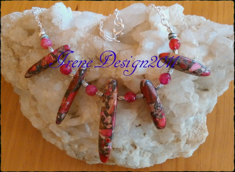 Sea Sediment Jasper Necklace by IreneDesign2011 image 0