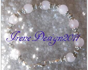 Facetted Rose Quartz Bracelet by IreneDesign2011