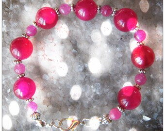Handmade Silver Bracelet with Pink Alexandrite by IreneDesign2011
