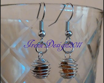 Amber in Cage Earrings by IreneDesign2011