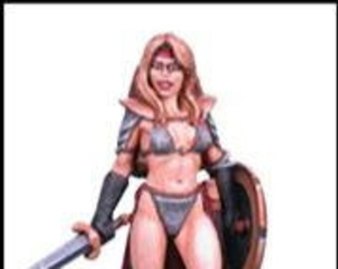 Elmore Masterworks: Chick In Chainmail #4, Female Fighter - 1117 - Dark Sword Miniatures