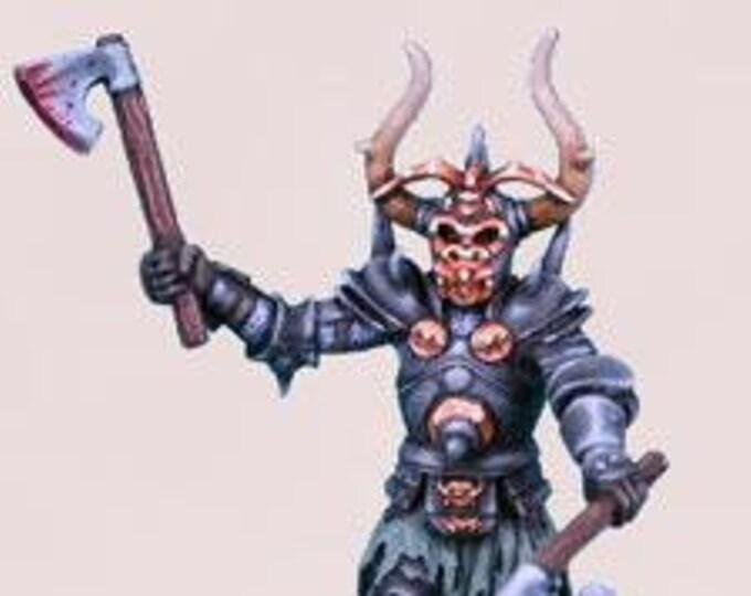 Elmore Masterworks: Male Evil Knight w/Axes - 1119 - Dark Sword Miniatures