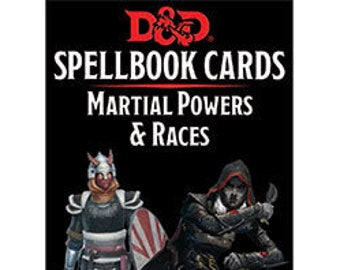 D&D 5th Edition: Spellbook Cards - Martial Powers and Races - Gale Force 9