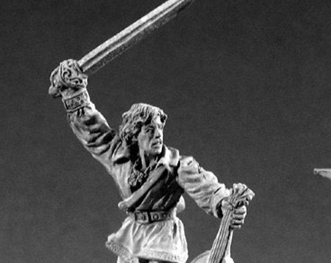 02186: Alfred Redlute, Bard - Reaper Miniatures