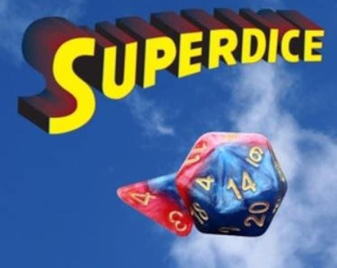 Halfsies Superdice 7-Die Polyhedral Dice Set - Gate Keeper Games
