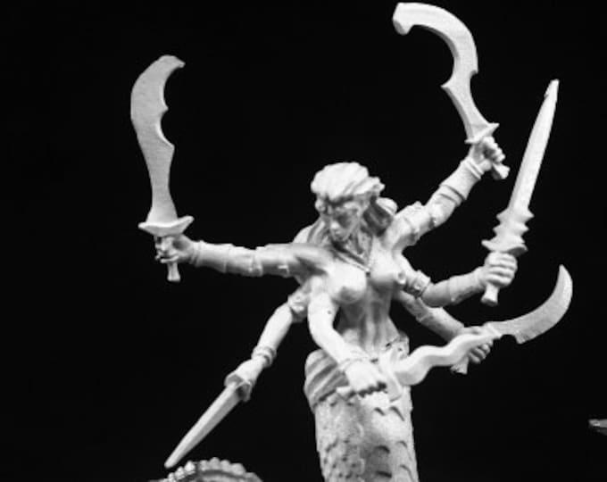 Reaper 03766: Snake Demon 28mm Dark Heaven Legends Metal Miniature - Reaper Miniatures