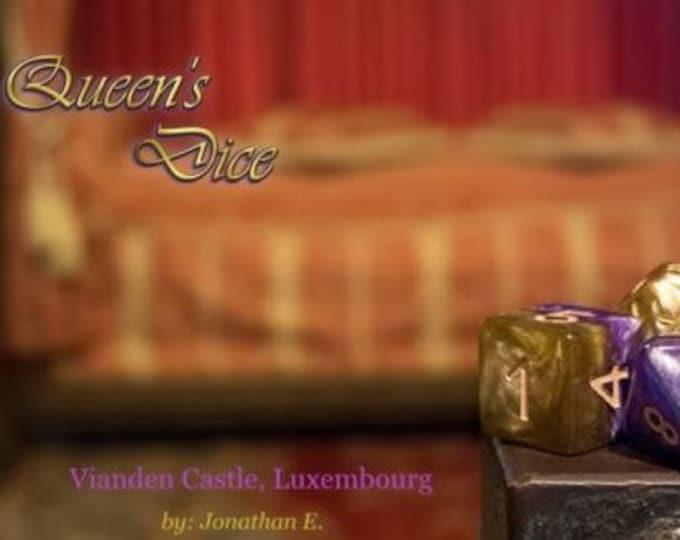 Halfsies Queen's Dice 7-Die Polyhedral Dice Set - Gate Keeper Games