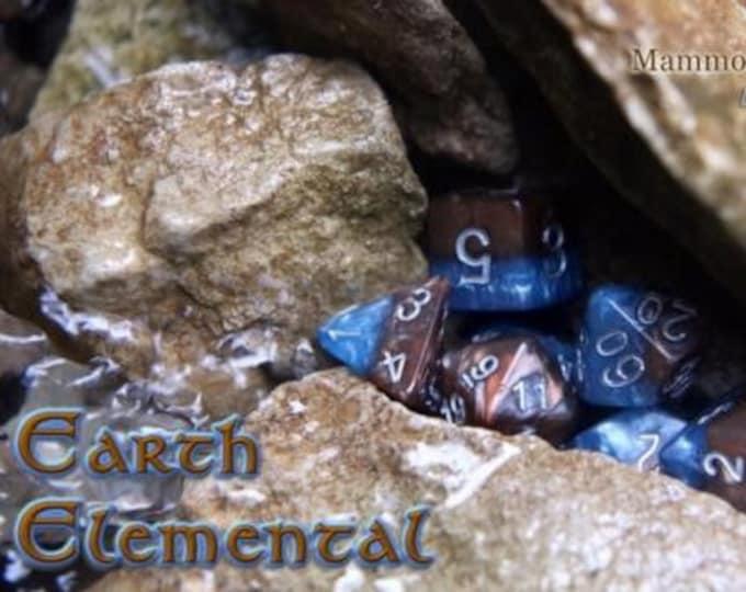 Halfsies Earth Elemental 7-Die Polyhedral Dice Set - Gate Keeper Games