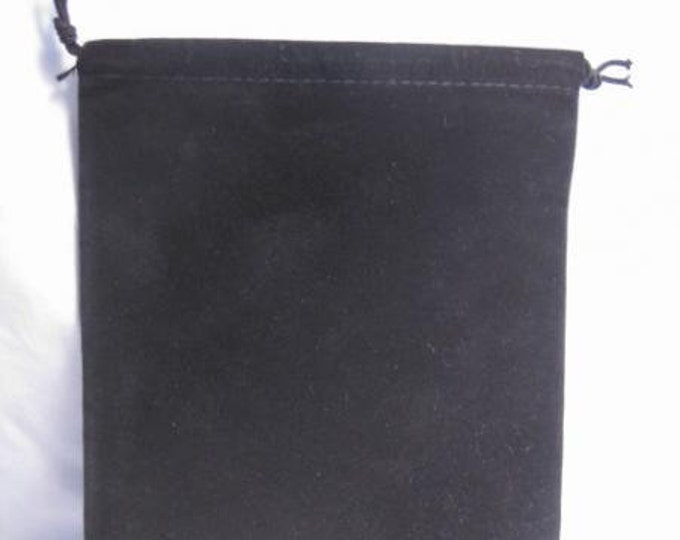 Dice Bags: Velour Pouch Bag - Large Black (5in x 7in)
