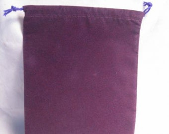 Dice Bags: Velour Pouch Bag - Large Purple (5in x 7in)