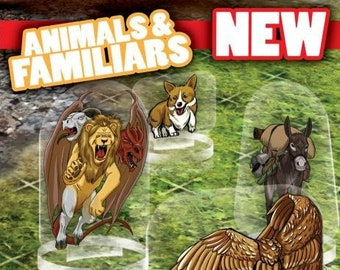 Flat Pack Miniatures: Animals and Familiars - ArcKnight