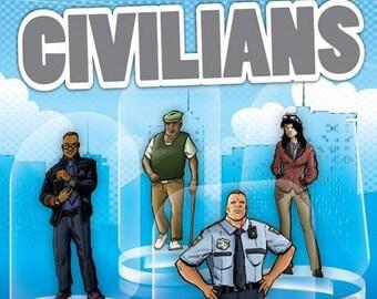 Flat Pack Miniatures: Civilians - ArcKnight