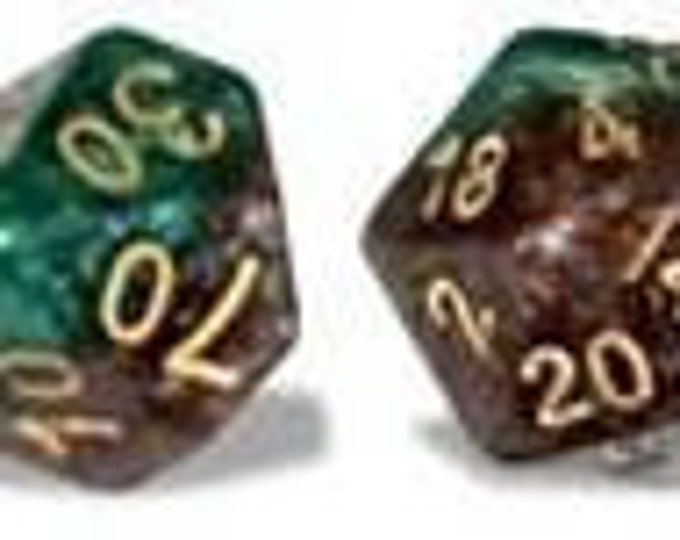 Halfsies Treant Dice 7-Die Polyhedral Dice Set - Gate Keeper Games