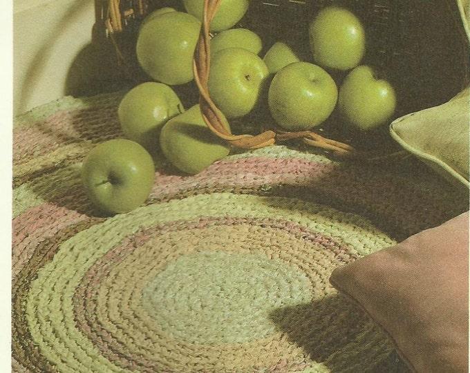 Home Furnishings - Rag Rug beginner easy crochet pattern download