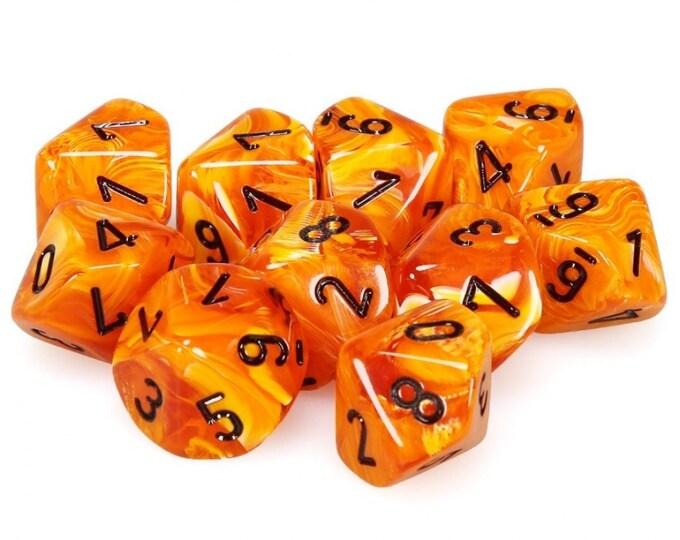 10d10 Vortex: Orange/Black - CHX27233 - Chessex