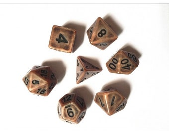 HDDice 7 Die Polyhedral Ancient Dice Set (Copper) - Purchasing Cooperative