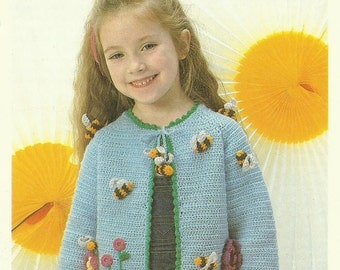 Child's Jacket Crochet Pattern - lovely vintage children's pattern