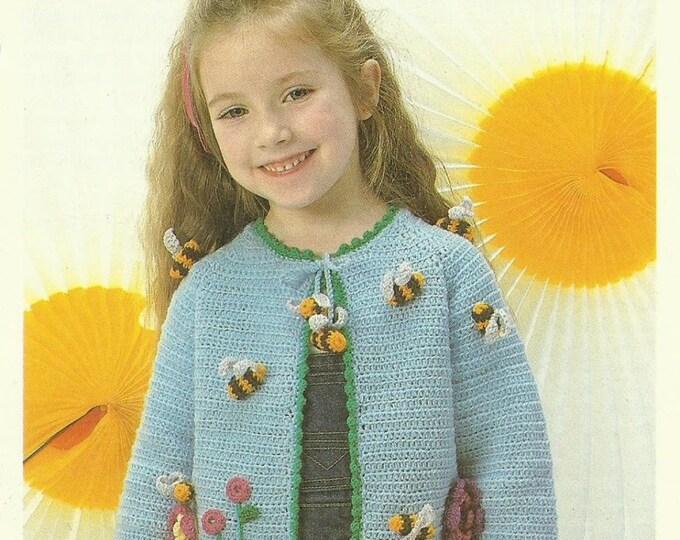 Child's Jacket Crochet Pattern - lovely vintage children's pattern