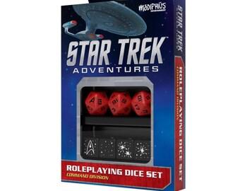 Star Trek Adventures RPG: Dice Set - Command Red - 051072 - Modiphius Entertainment