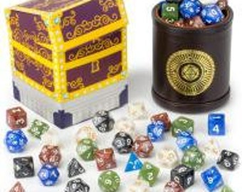 WizDice Cup of Plenty with Five Dice Sets