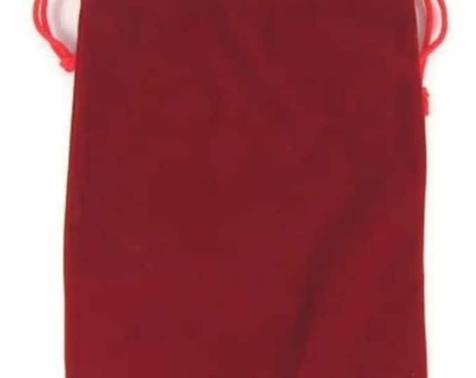 Dice Bags: Velvet Dice Bag - Red (6in x 9in)
