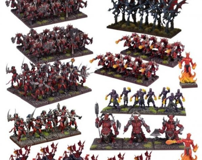 Kings Of War: (Forces Of The Abyss) Mega Army - Mantic Games (Backorder)