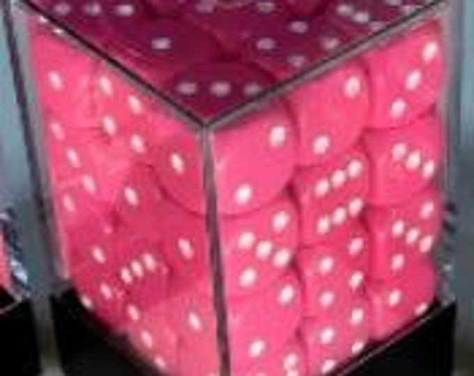 Pink/White Opaque 12mm d6 (36) - CHX25844 - Chessex