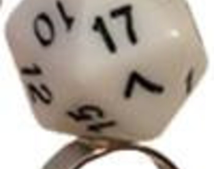 D20 Rings: Adjustable White Ring (One Size Fits Most) - MET9020 - Metallic Dice Games