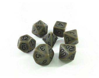 HDDice 7 Die Polyhedral Ancient Dice Set (Cyan) - Purchasing Cooperative