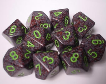 Earth Speckled d10 Set (10) - CHX25110 - Chessex