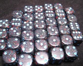 Blue Stars Speckled 12mm d6 (36) - CHX25938 - Chessex