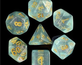 HDDice 7 Die Polyhedral Iridescent Dice Set (Blue) - Purchasing Cooperative