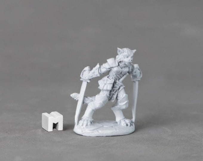 03894: Shadoweyes, Catfolk Rogue - Reaper Miniatures