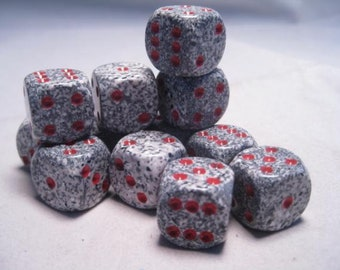 Granite Speckled 16mm d6 (12) - CHX25720 - Chessex