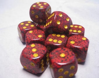 Mercury Speckled 16mm d6 (12) - CHX25723 - Chessex