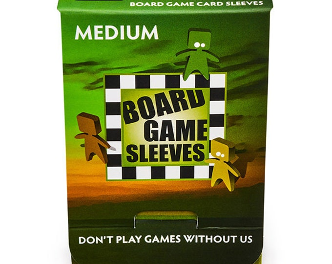 Card Sleeves: Board Game Sleeves- Medium Non-Glare (57x89mm) - ATM10423 - Arcane Tinmen