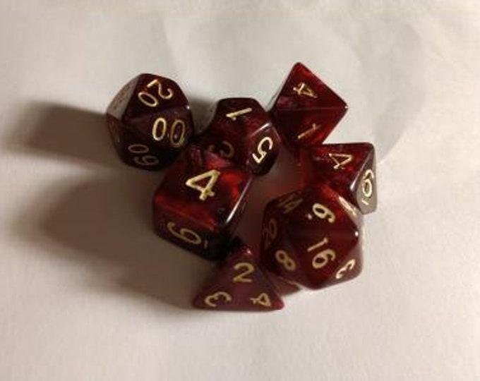 Bloodwine - 7 Die Polyhedral Set