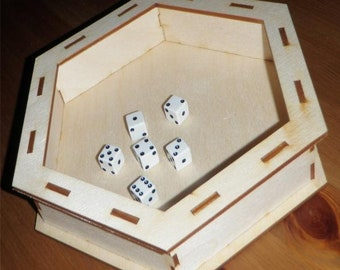 Hex Dice Tray - BPN1307 - Blue Panther Games