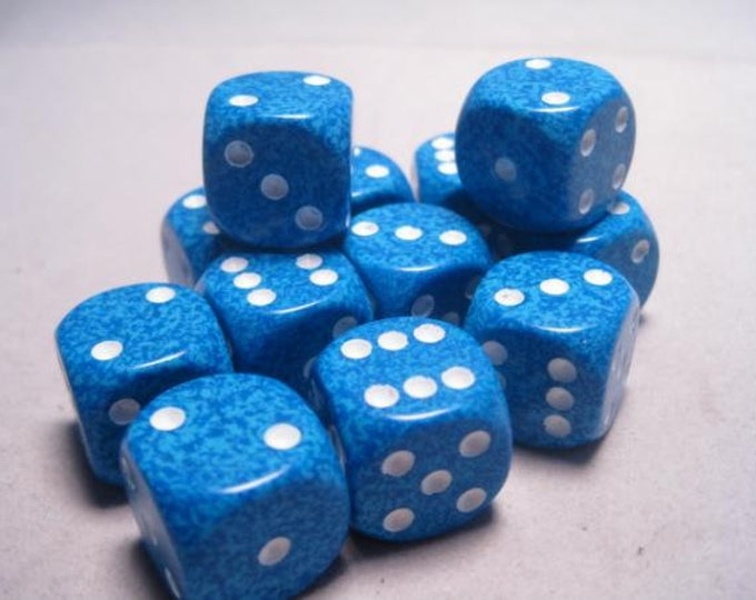 Water Speckled 16mm d6 (12) - CHX25706 - Chessex
