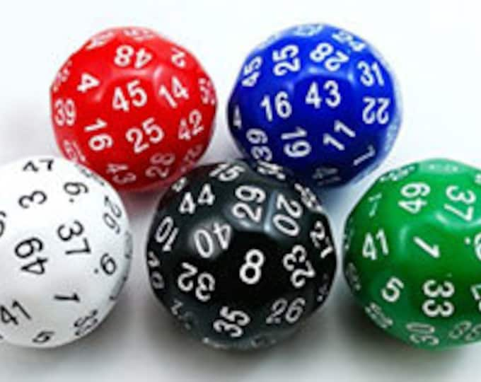 Unusual Dice - d50 Fifty-Sided Die
