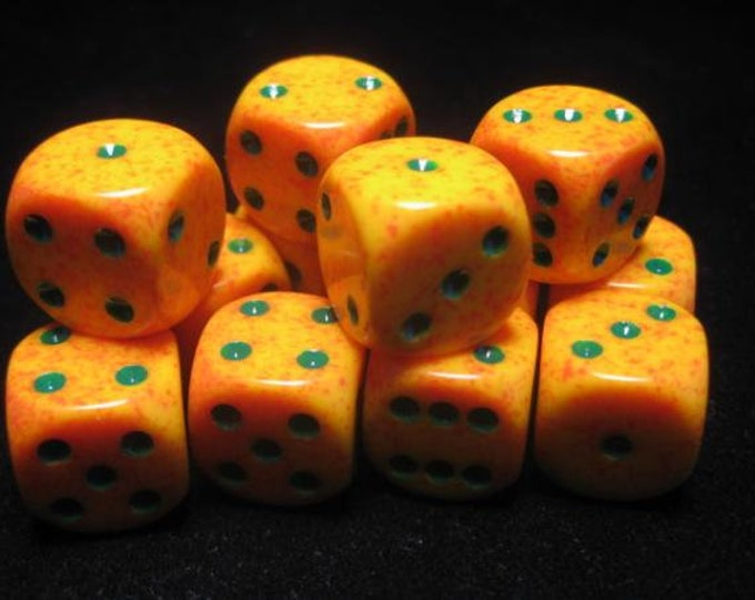 Lotus Speckled 16mm d6 (12) - CHX25712 - Chessex