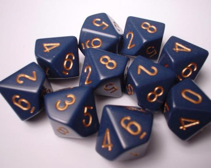 10d10 Opaque: Dusty Blue/Copper - CHX25226 - Chessex