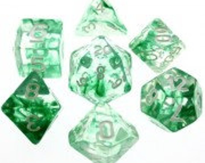 HDDice 7 Die Polyhedral Nebula Dice Set (Green) - Purchasing Cooperative