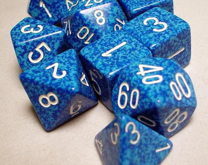 RPG Dice Sets: Water Polyhedral 10-Die Set