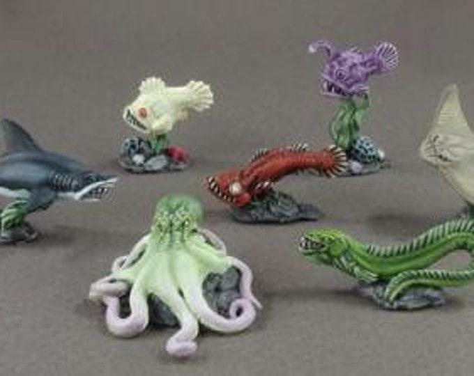 Aquatic Familiars (7) - 02948 - Reaper Miniatures