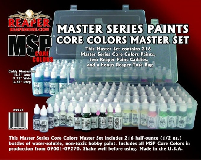 Reaper 09956: Master Series Core Colors Master Set - Reaper Miniatures