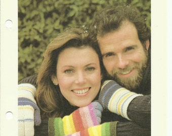 Rainbow gloves easy crochet pattern digital download women's and men's sizes included