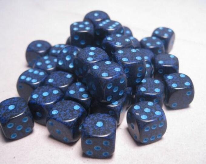 Cobalt Speckled 12mm d6 (36) - CHX25907 - Chessex