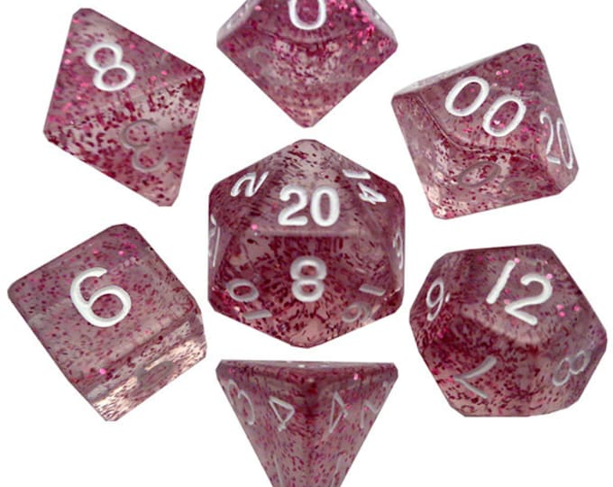 7-Die Set Ethereal: Light Purple/White - MTD208 - Metallic Dice Games