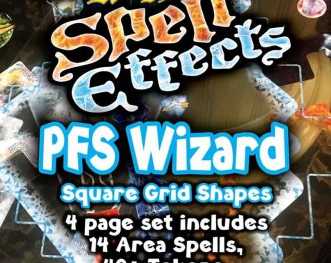Flat Pack Miniatures: Pathfinder Wizard Spell Effects - ArcKnight